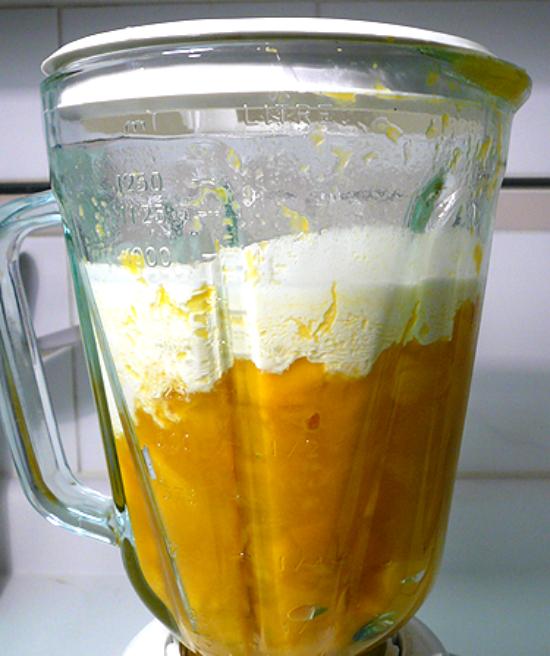 Cách làm món kem xoài sữa chua